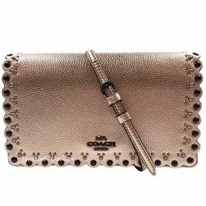 COACH Fold Over Scalloped Crossbody Handbag